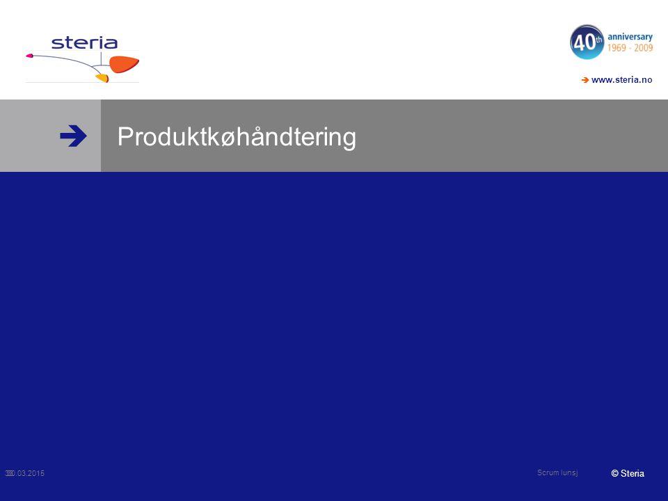 Produktkøhåndtering 09.04.2017 Scrum lunsj