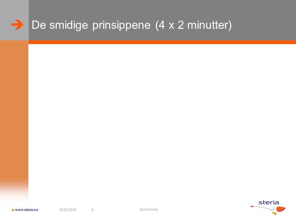 De smidige prinsippene (4 x 2 minutter)