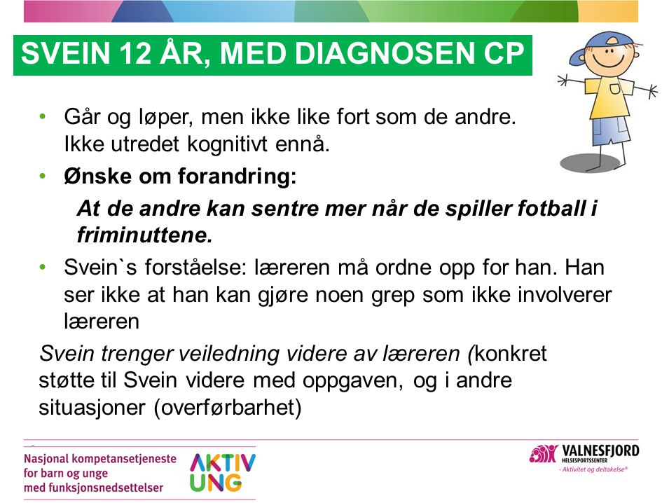 SVEIN 12 ÅR, med diagnosen CP