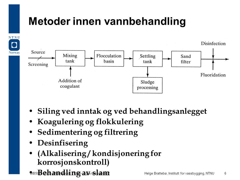 Metoder innen vannbehandling