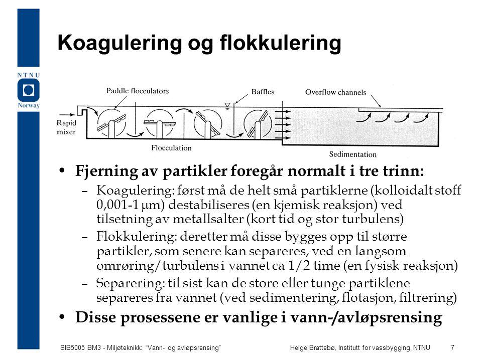 Koagulering og flokkulering