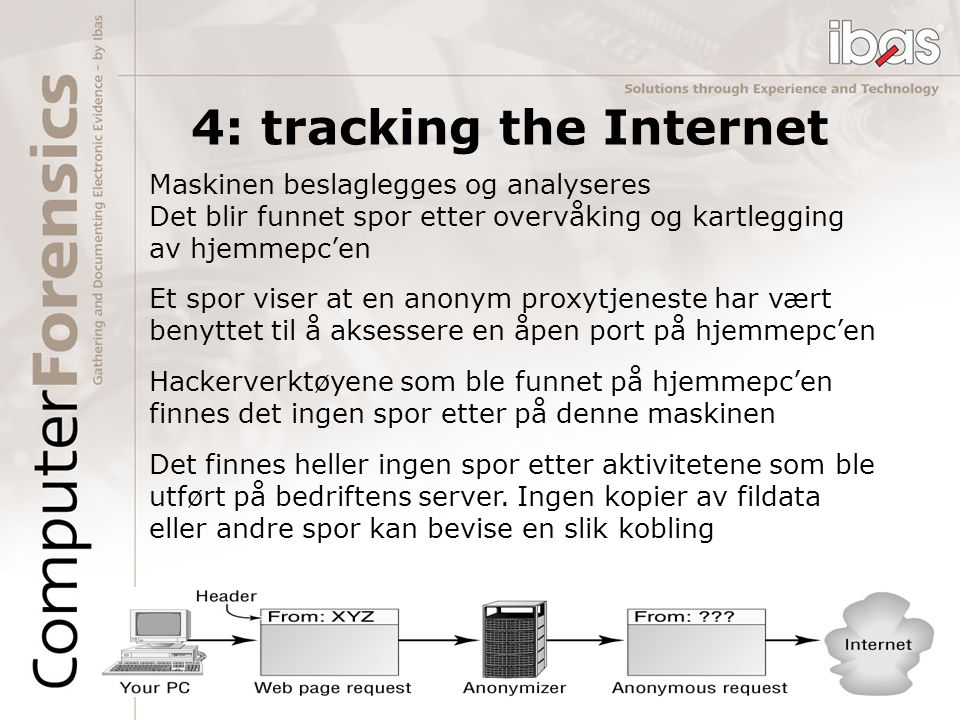4: tracking the Internet