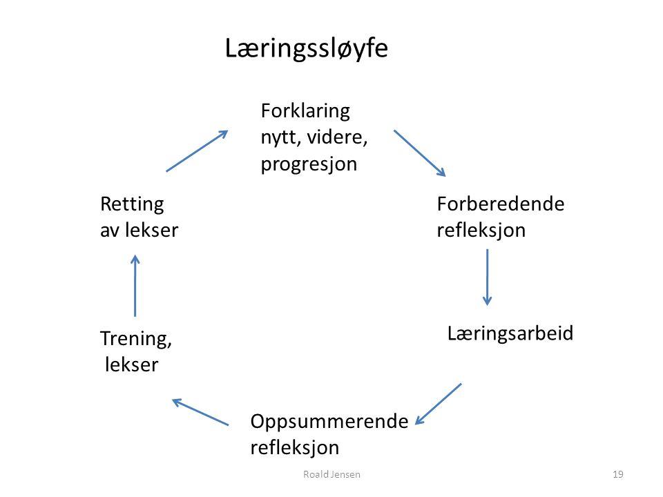 Læringssløyfe Forklaring nytt, videre, progresjon Retting av lekser