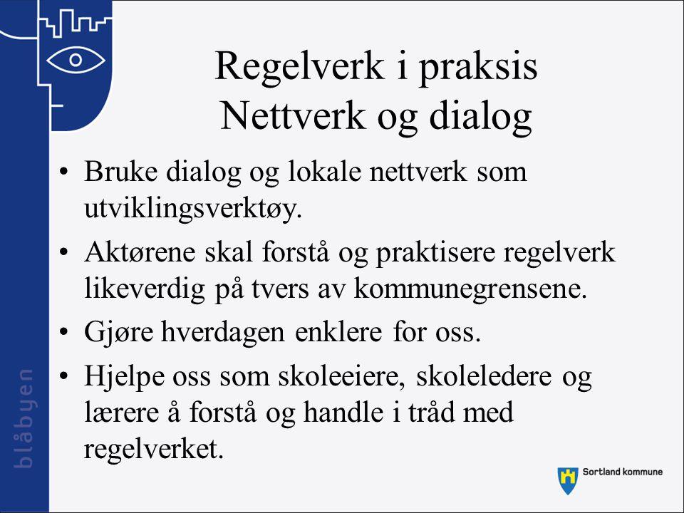 Regelverk i praksis Nettverk og dialog