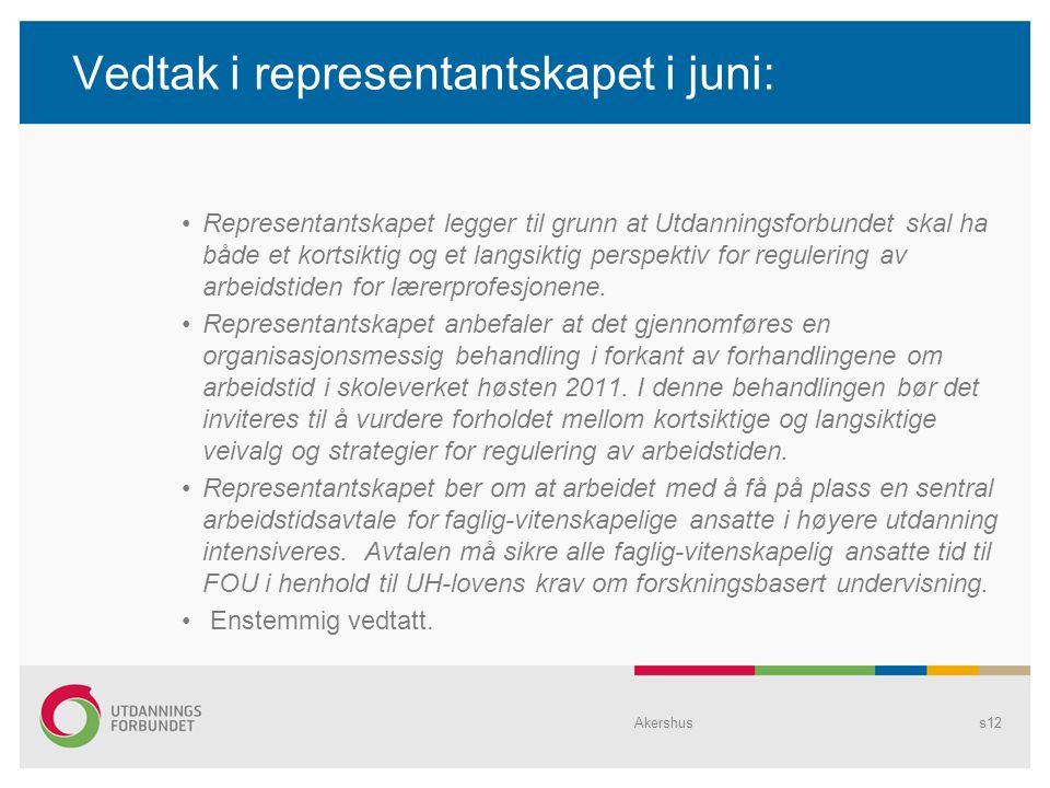 Vedtak i representantskapet i juni: