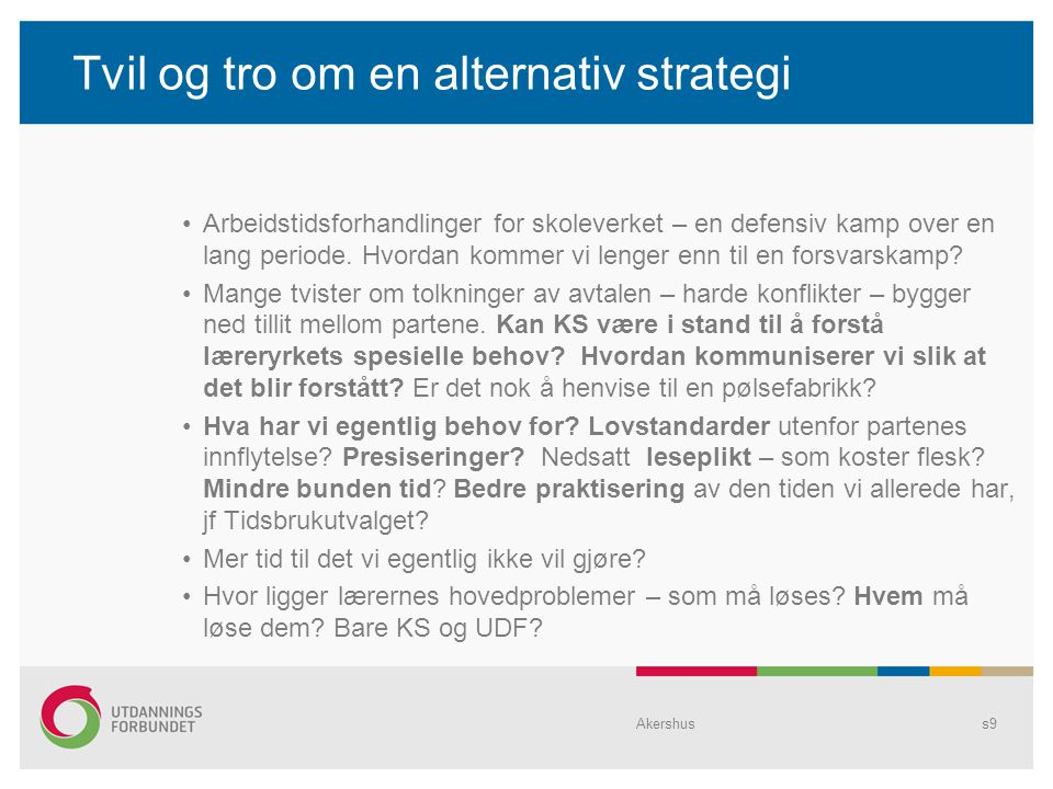 Tvil og tro om en alternativ strategi