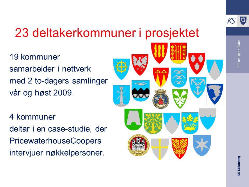 23 deltakerkommuner i prosjektet