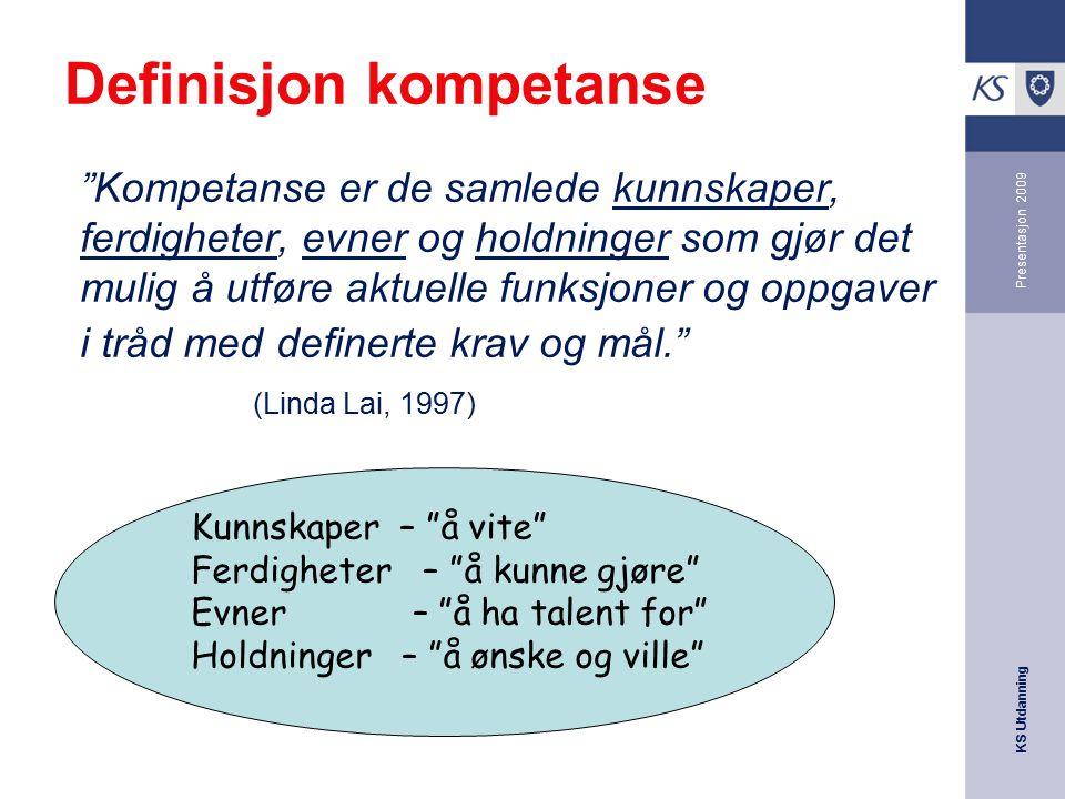 Definisjon kompetanse