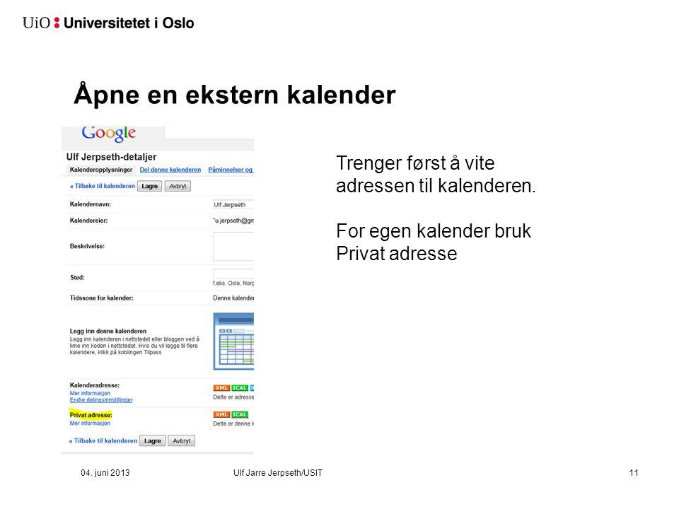 Open Calendar – se en annen UiO-kalender