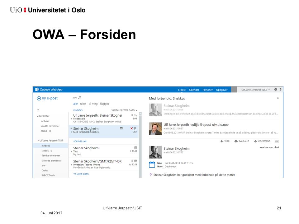OWA – Outlook Web Application