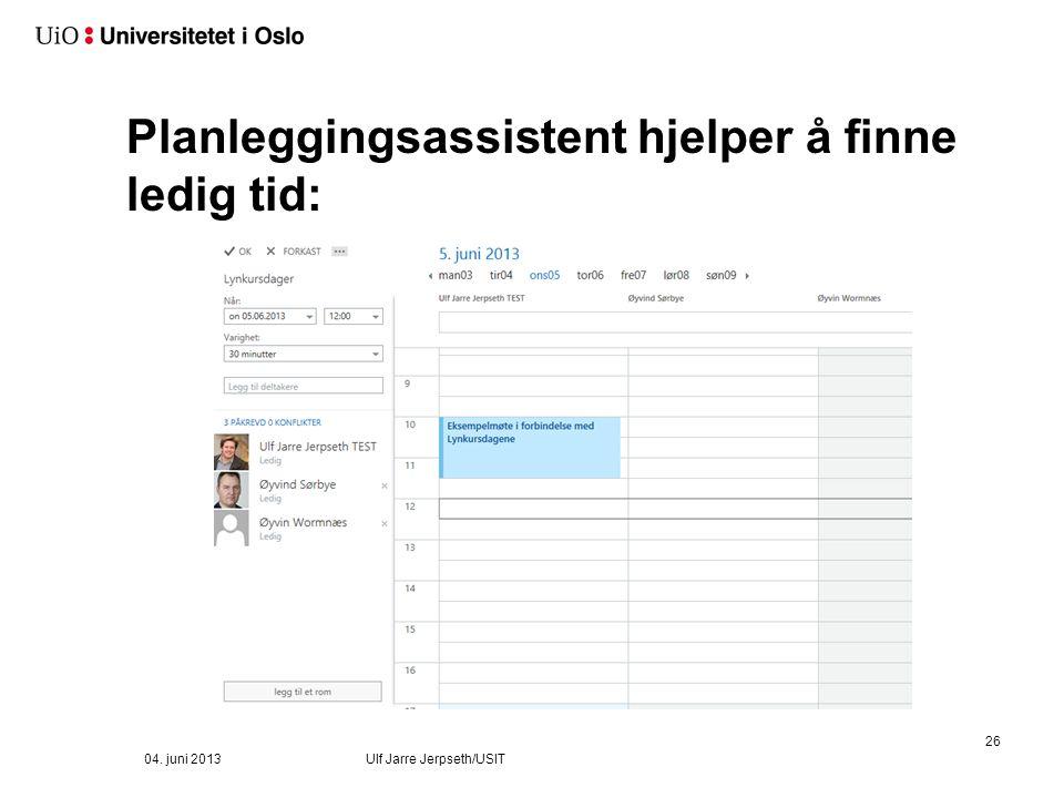 Velg deltagere 04. juni 2013 Ulf Jarre Jerpseth/USIT