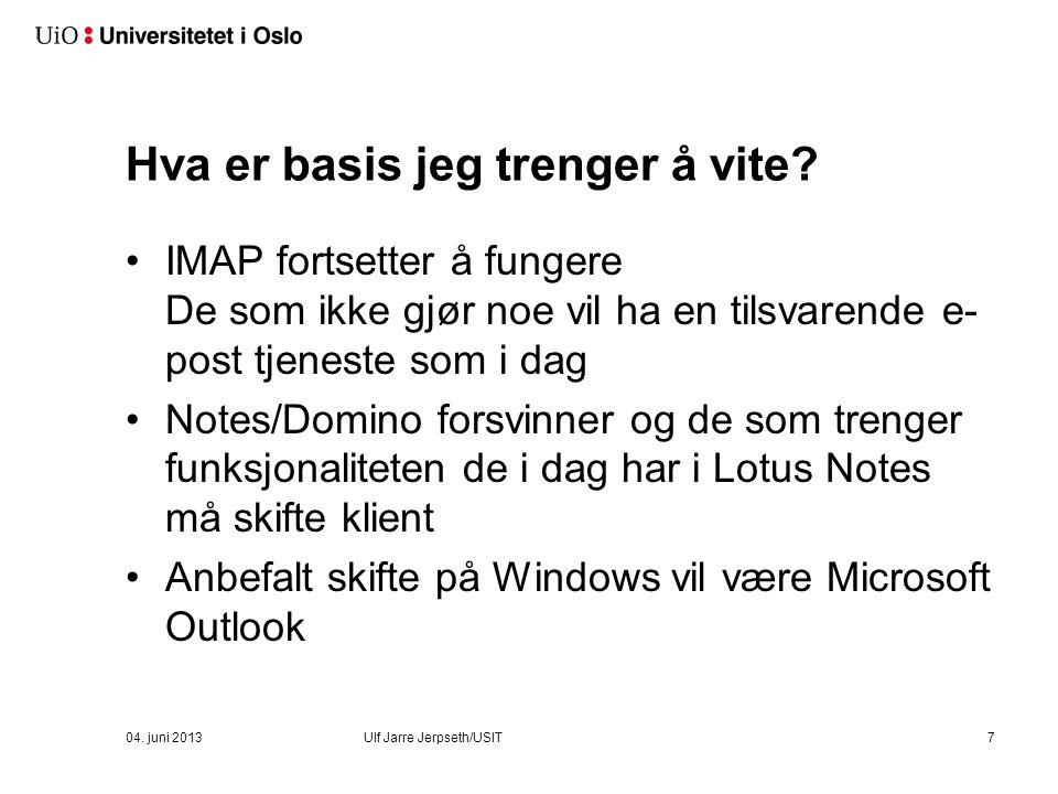 Snart kommer Outlook/Exchange