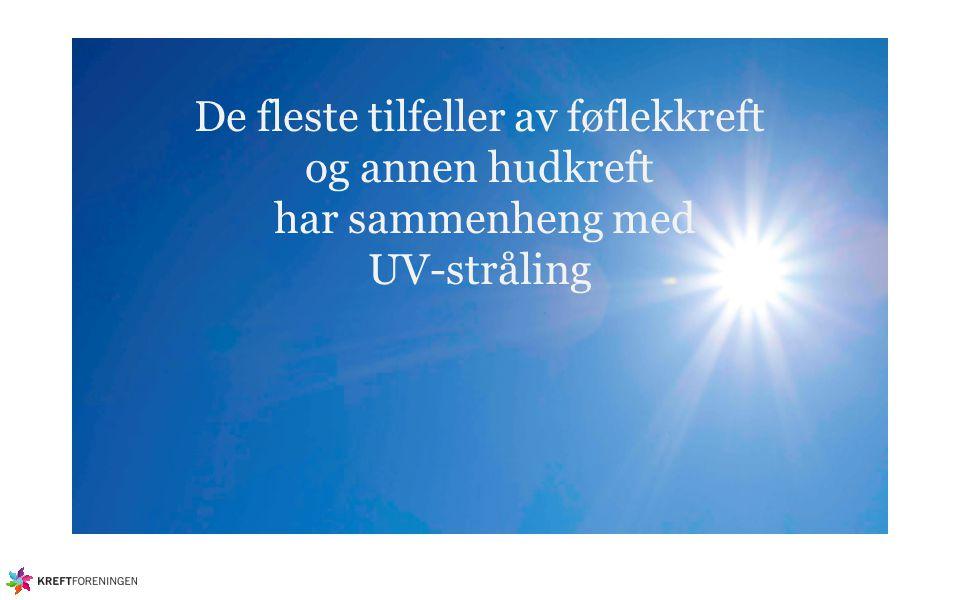 De fleste tilfeller av føflekkreft og annen hudkreft har sammenheng med UV-stråling