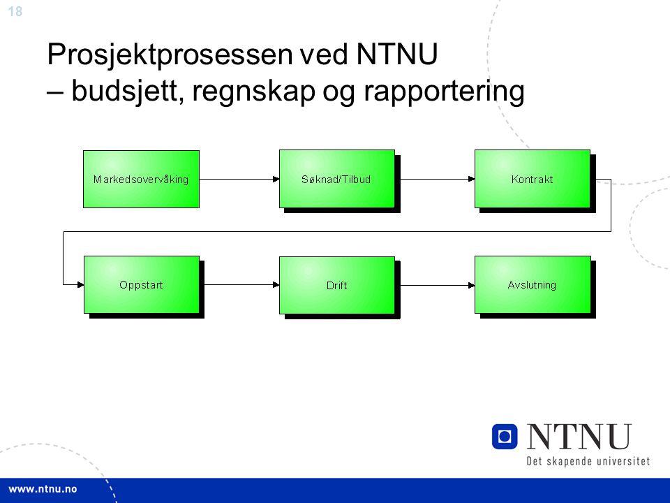 Prosjektprosessen ved NTNU – budsjett, regnskap og rapportering
