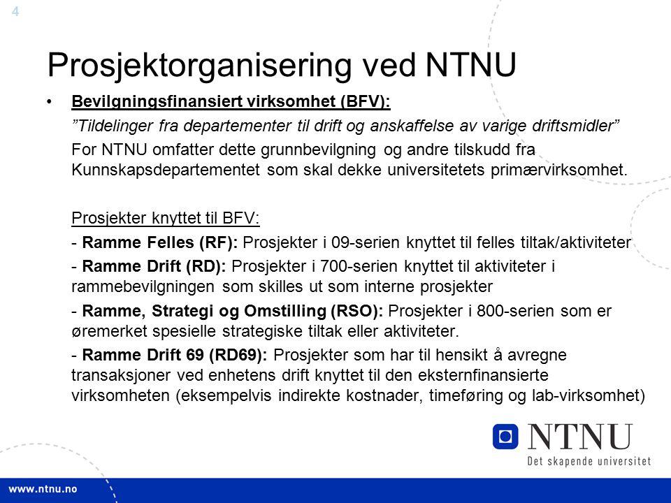 Prosjektorganisering ved NTNU