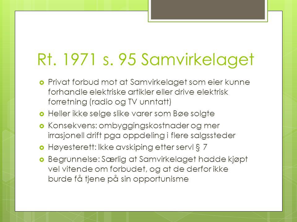 Rt. 1971 s. 95 Samvirkelaget
