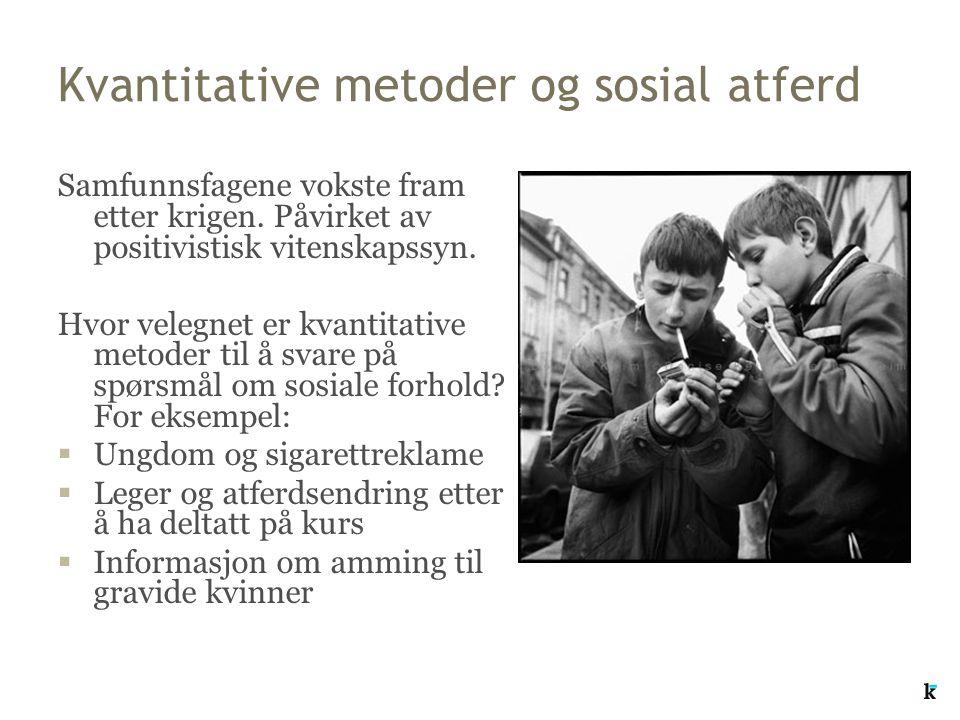 Kvantitative metoder og sosial atferd