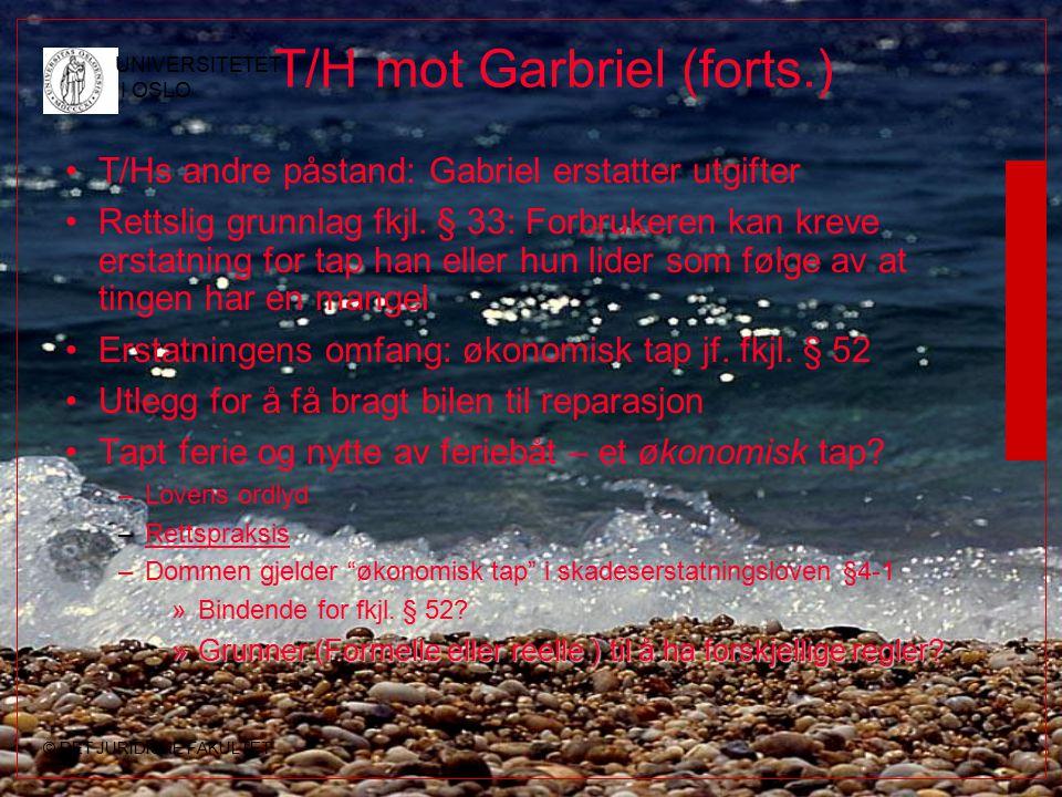 T/H mot Garbriel (forts.)