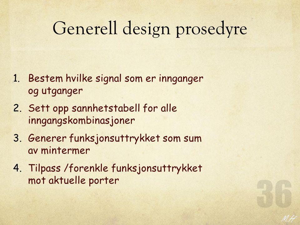 Generell design prosedyre