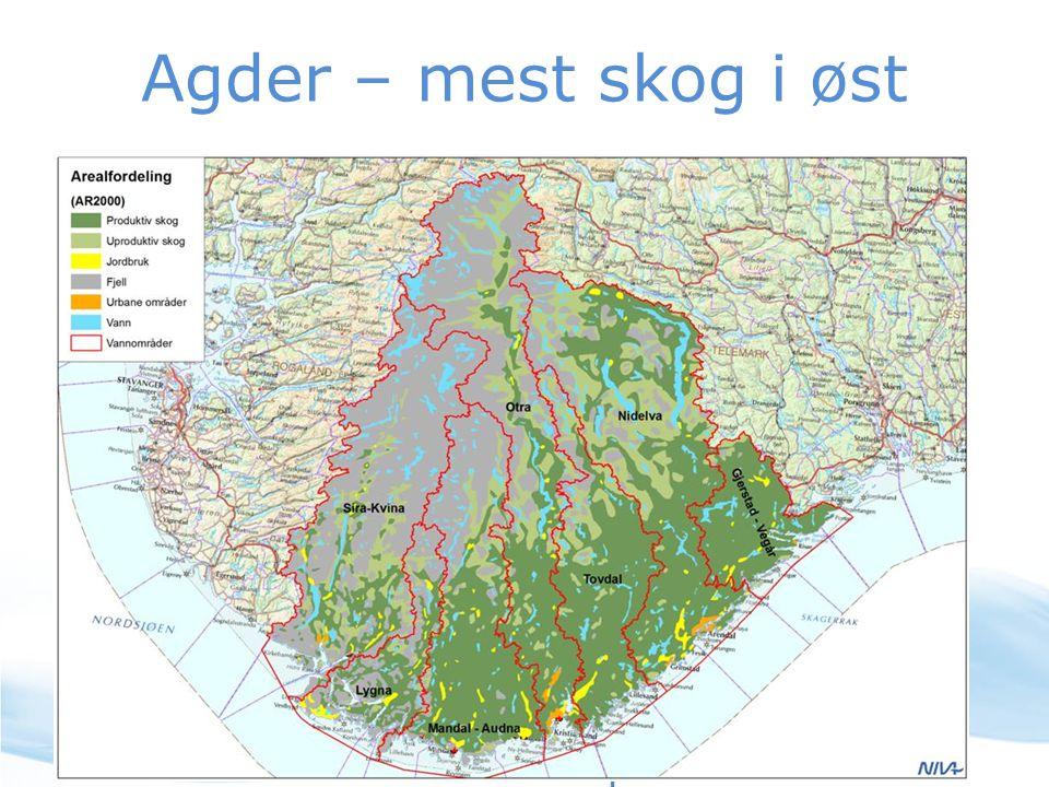 Agder – mest skog i øst
