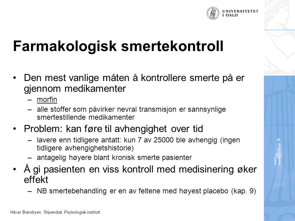 Farmakologisk smertekontroll