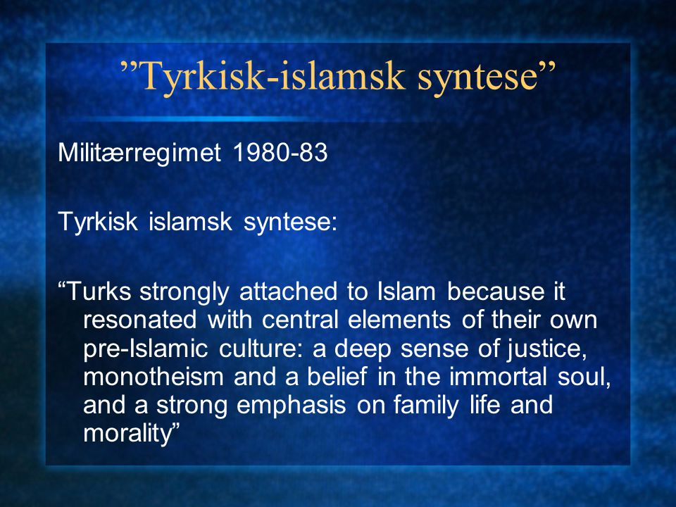 Tyrkisk-islamsk syntese