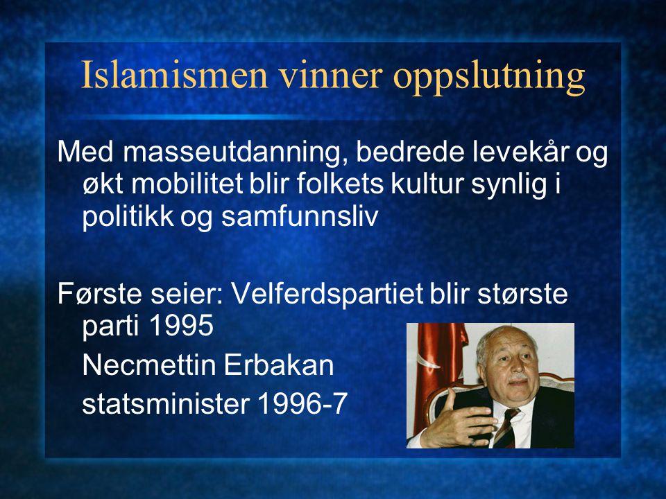 Islamismen vinner oppslutning