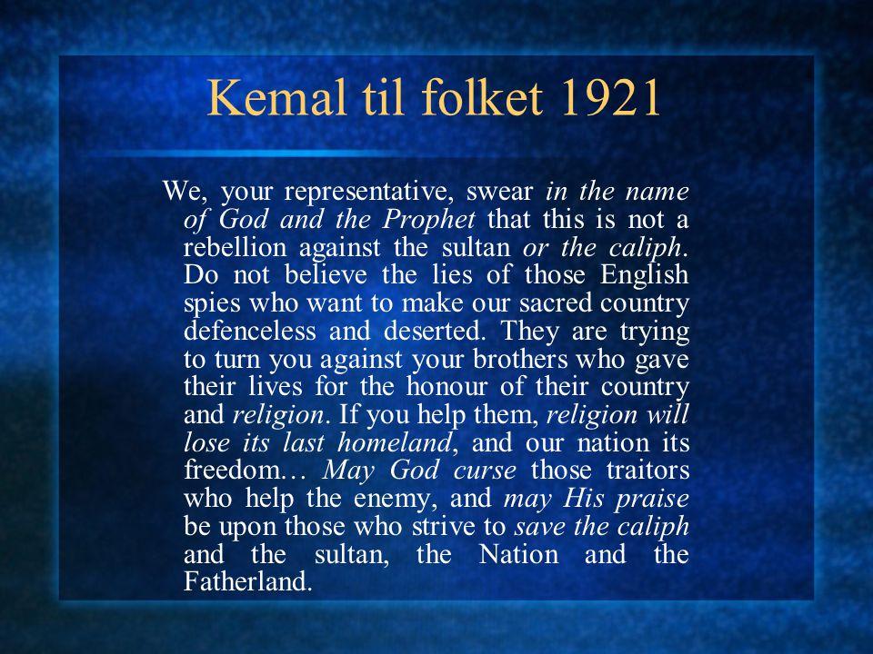 Kemal til folket 1921