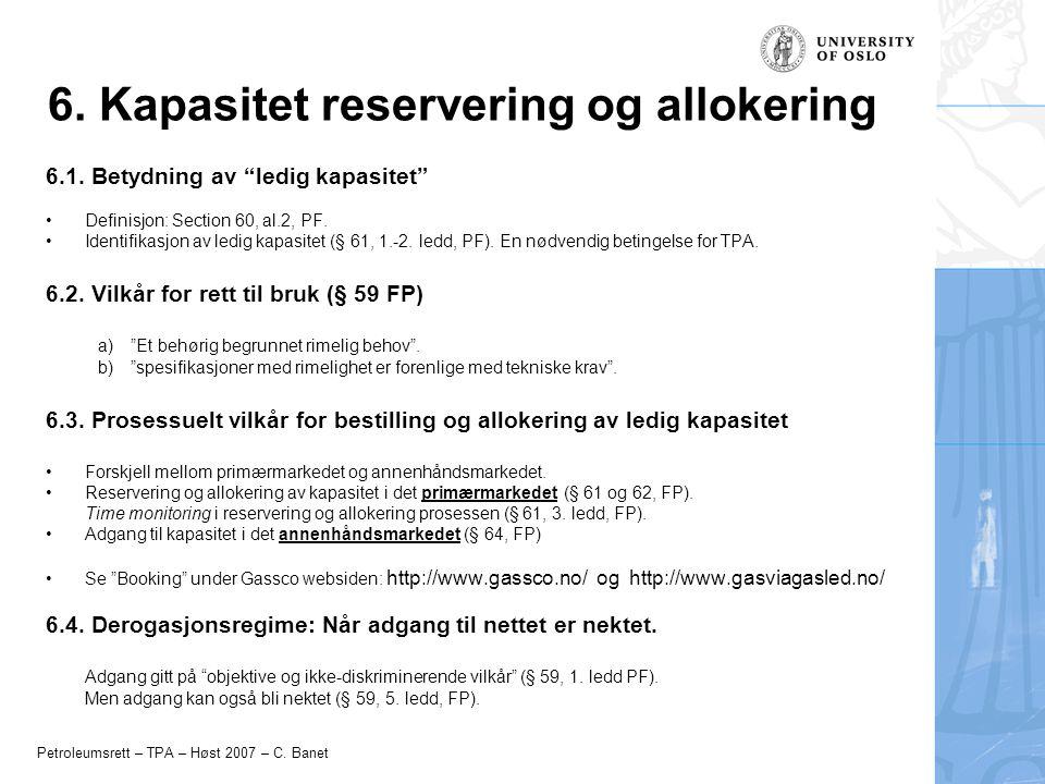 6. Kapasitet reservering og allokering