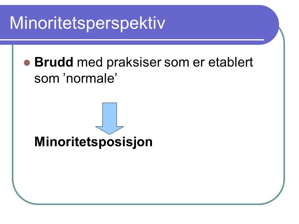 Minoritetsperspektiv