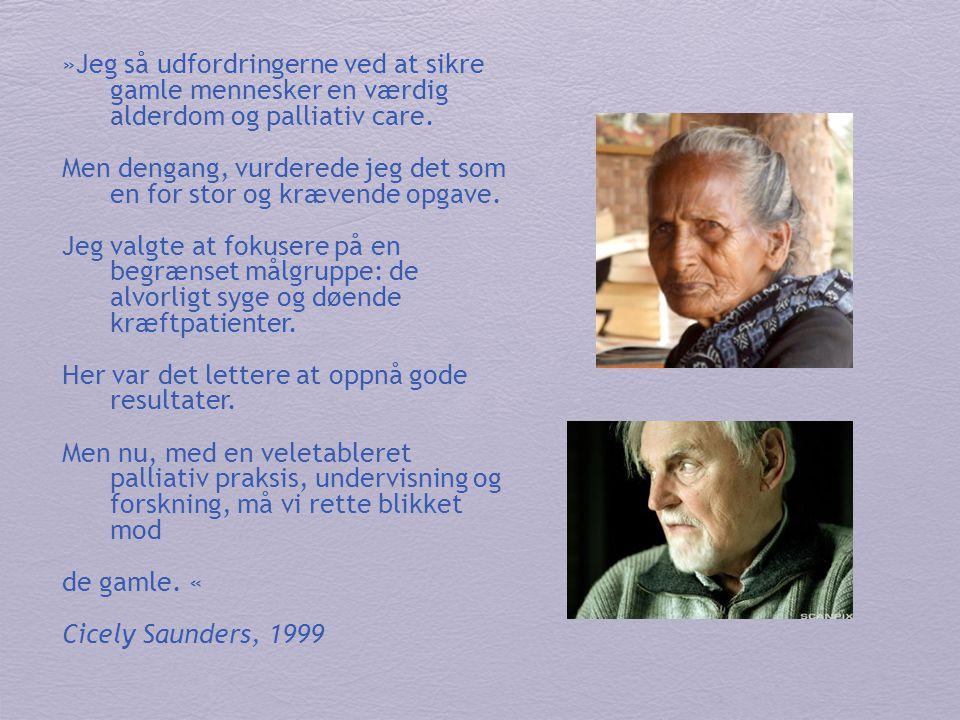 »Jeg så udfordringerne ved at sikre gamle mennesker en værdig alderdom og palliativ care.