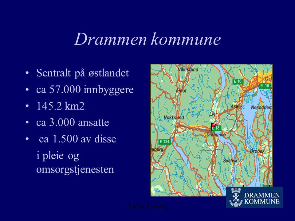Drammen kommune Sentralt på østlandet ca 57.000 innbyggere 145.2 km2