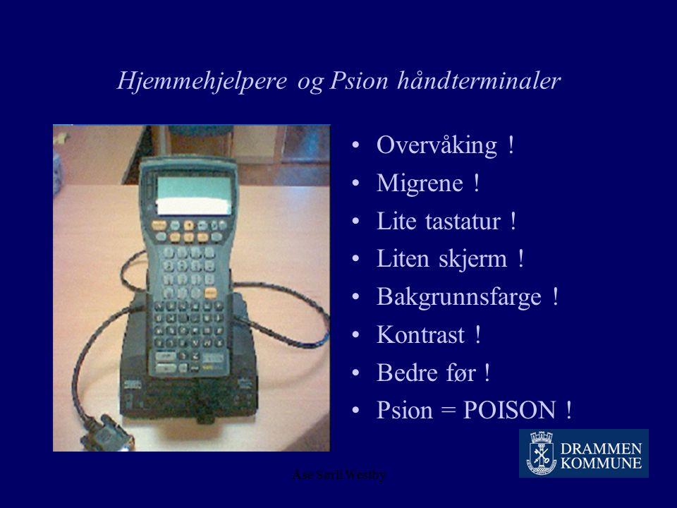 Hjemmehjelpere og Psion håndterminaler