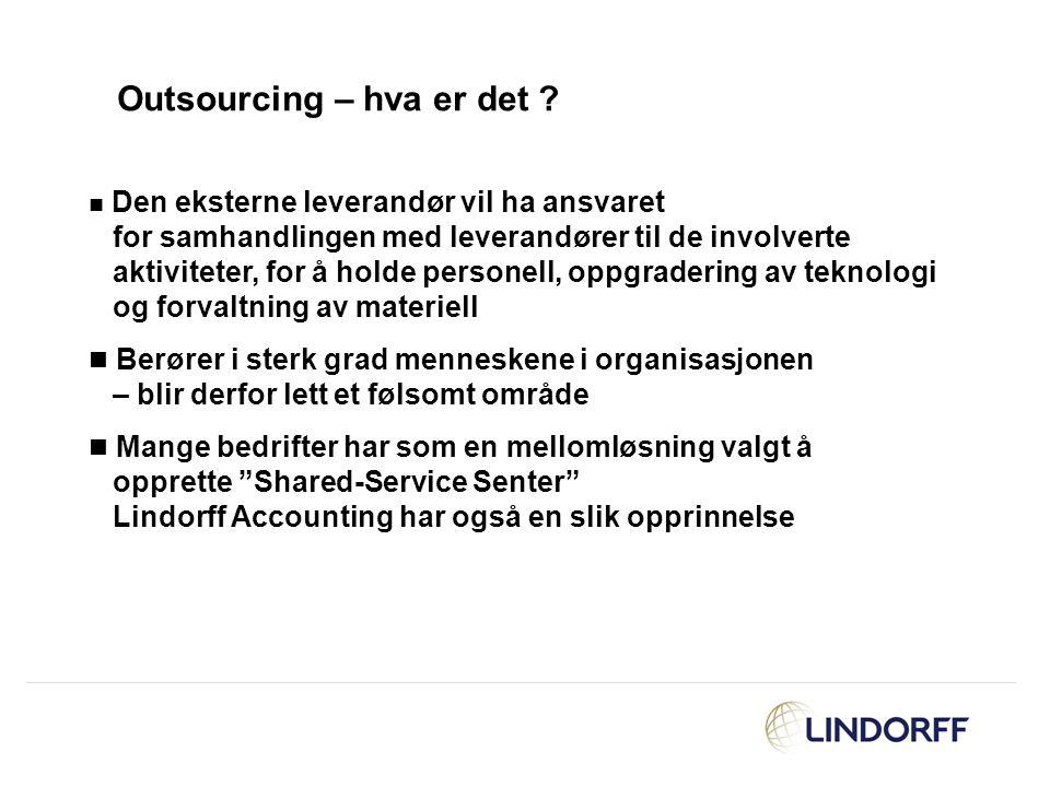 Outsourcing – hva er det