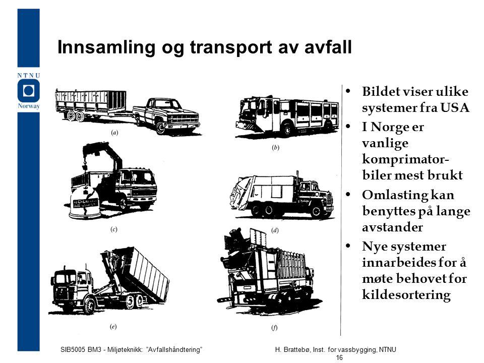 Innsamling og transport av avfall
