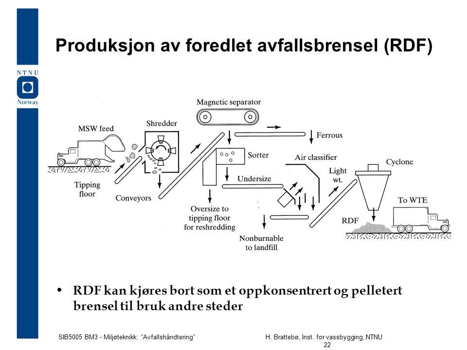 Produksjon av foredlet avfallsbrensel (RDF)