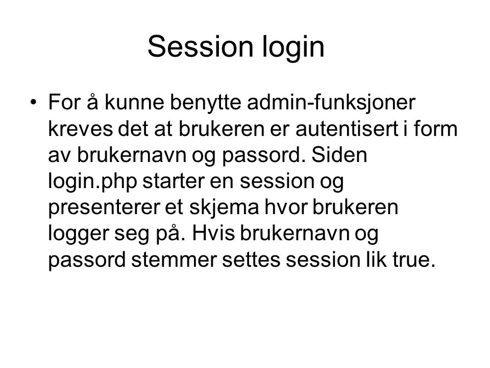 Session login