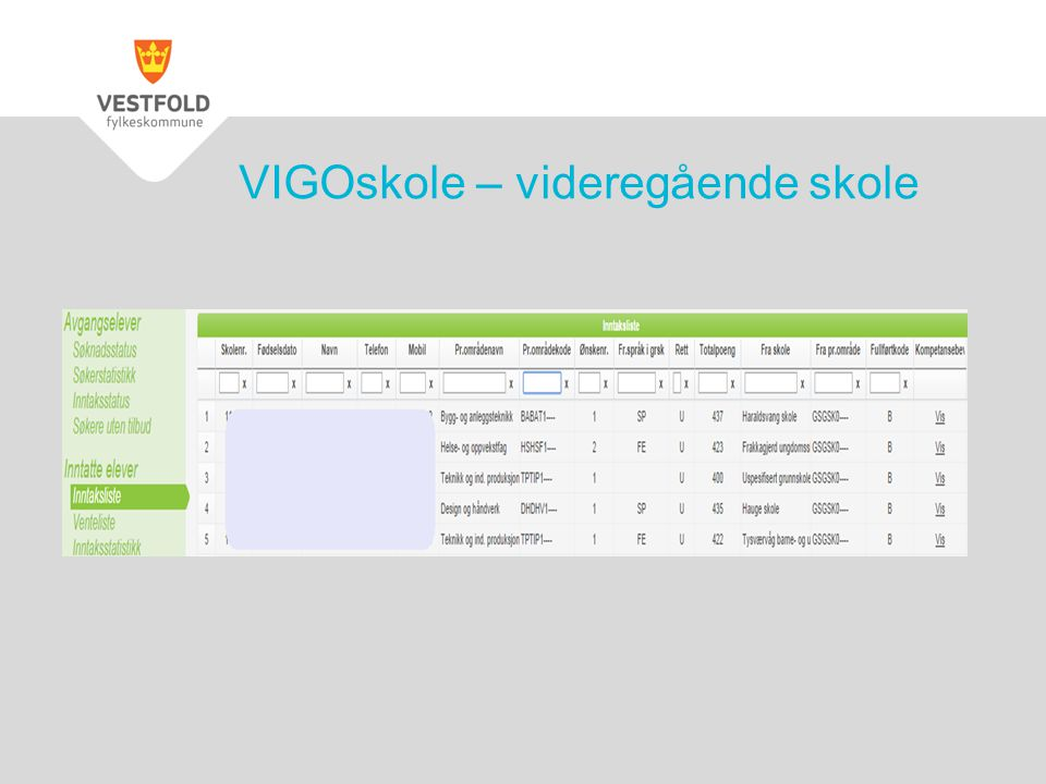 VIGOskole – videregående skole