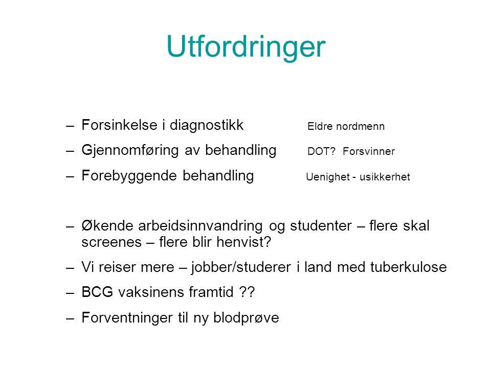 Utfordringer Forsinkelse i diagnostikk Eldre nordmenn