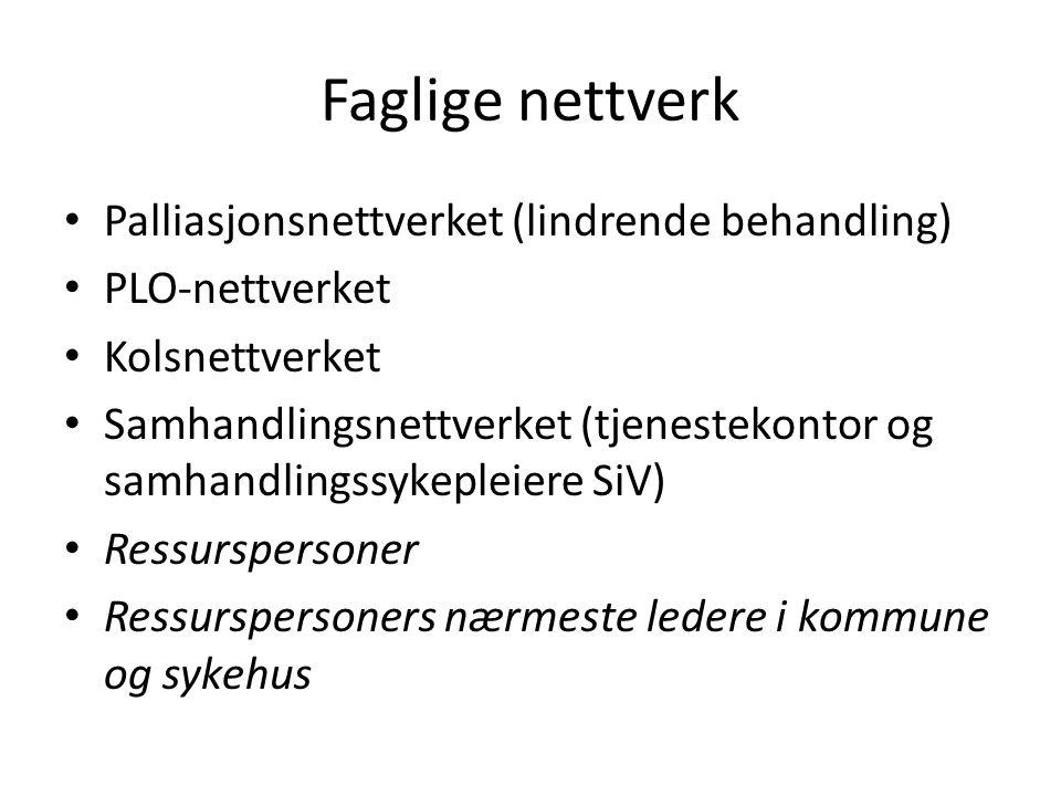 Faglige nettverk Palliasjonsnettverket (lindrende behandling)