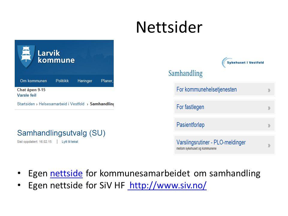 Nettsider Egen nettside for kommunesamarbeidet om samhandling