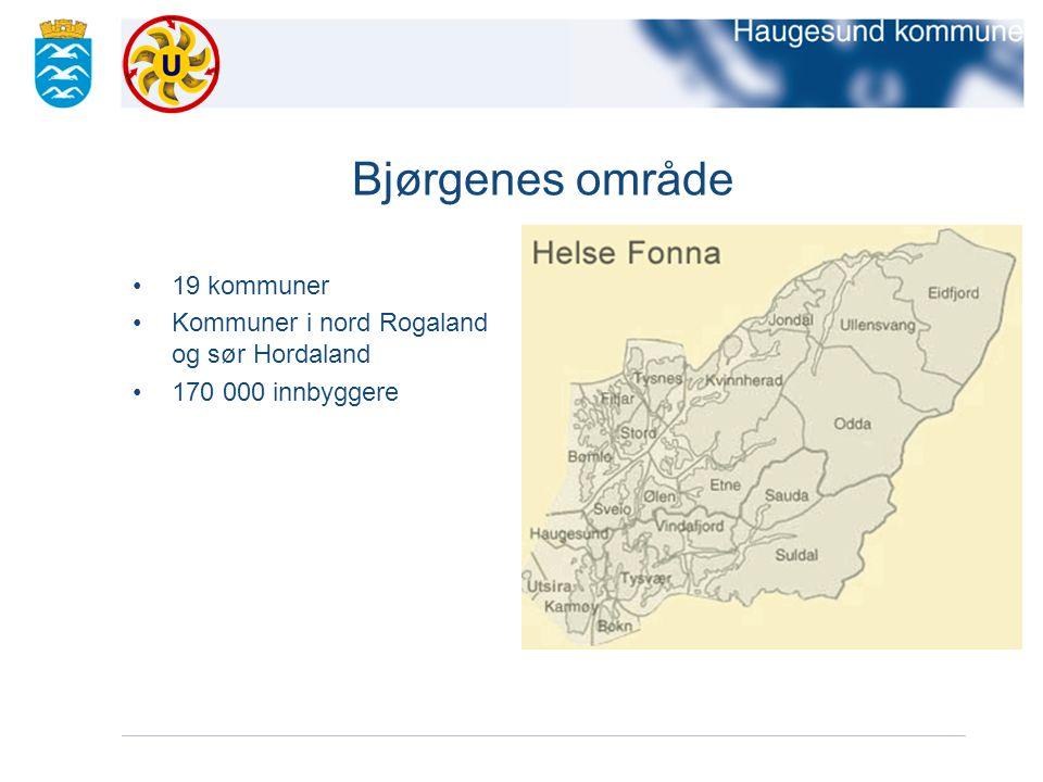 Bjørgenes område 19 kommuner Kommuner i nord Rogaland og sør Hordaland