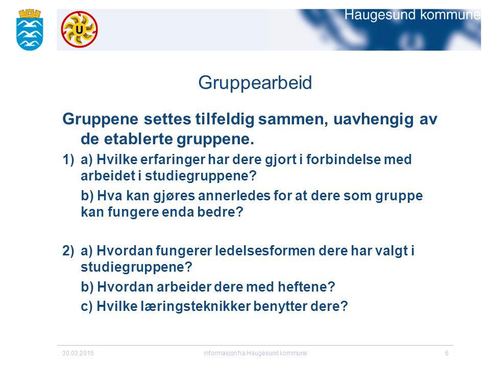 informasjon fra Haugesund kommune