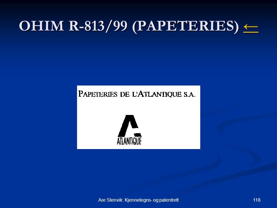 OHIM R-813/99 (PAPETERIES) ←
