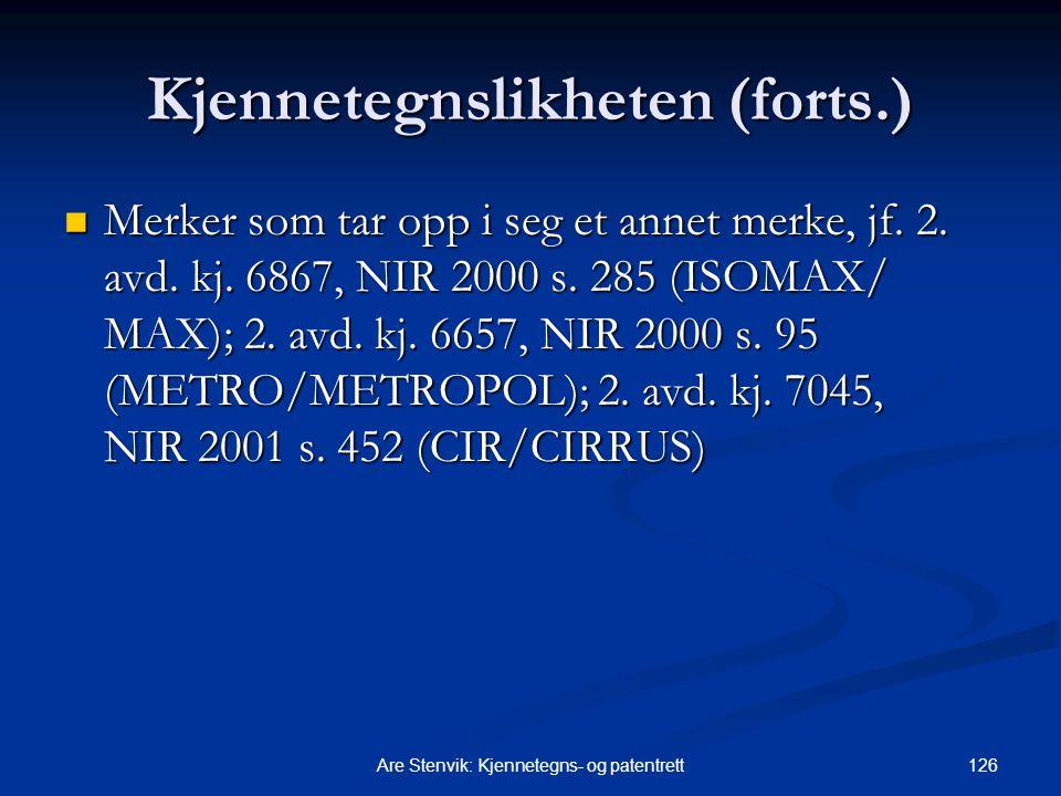 Kjennetegnslikheten (forts.)