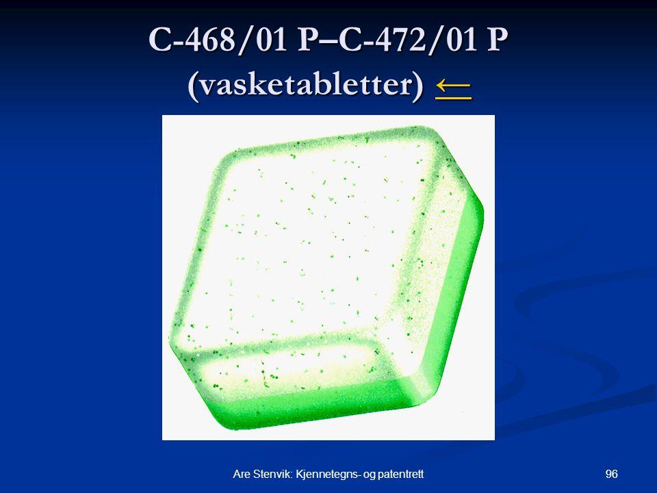 C-468/01 P–C-472/01 P (vasketabletter) ←