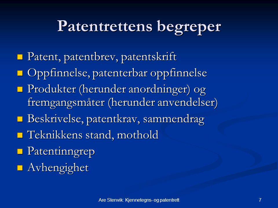 Patentrettens begreper