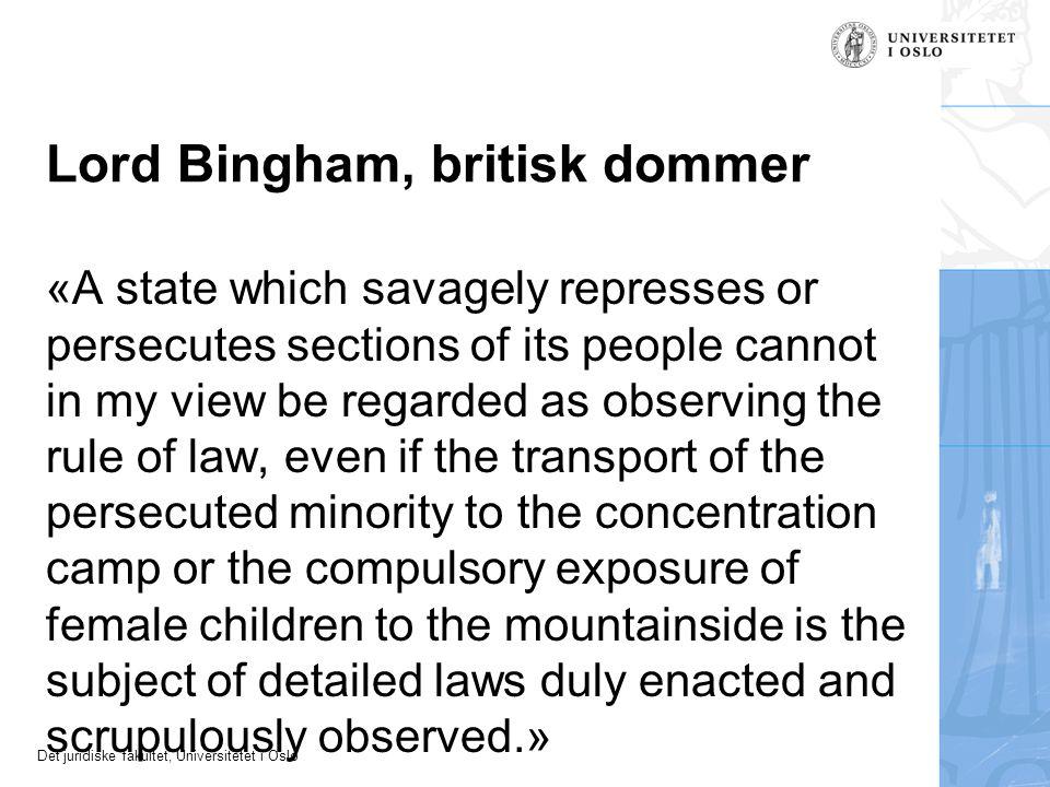 Lord Bingham, britisk dommer