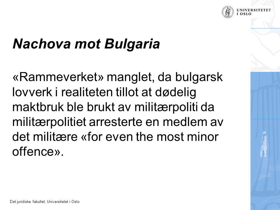 Nachova mot Bulgaria