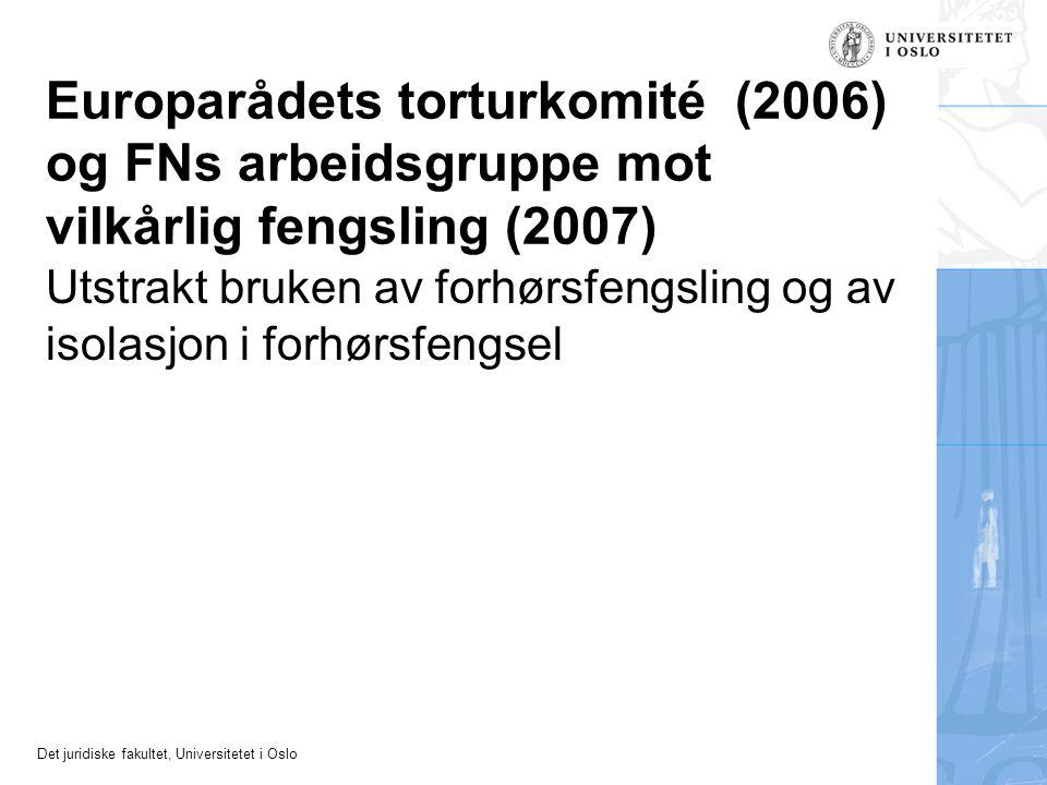 Europarådets torturkomité (2006) og FNs arbeidsgruppe mot vilkårlig fengsling (2007)